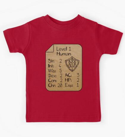 Level 1 - Human [only for Nerd Babies] Kids Tee