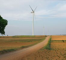 Road to wind power farm by davvi