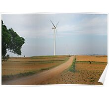 Road to wind power farm Poster