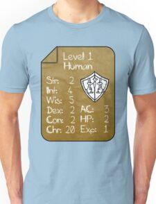 Level 1 - Human [only for Nerd Babies] -Original Colors Unisex T-Shirt