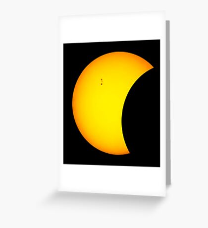 Partial Ecplise and Magnetic Storms.  Greeting Card