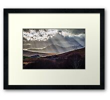 Sometime too hot, the eye of heaven  Framed Print