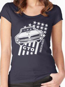 Pontiac GTO Stars & Stripes Women's Fitted Scoop T-Shirt