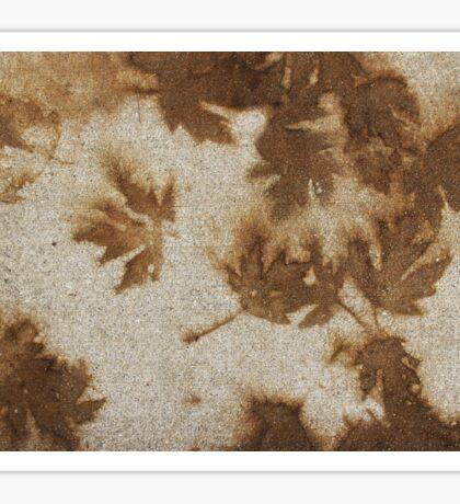 Brown maple leaf stains  Sticker