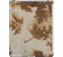 Brown maple leaf stains  iPad Case/Skin