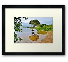 Kenfig Pool, Kenfig National Nature Reserve, south Wales Framed Print
