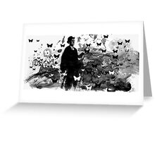 walking with James Joyce Greeting Card