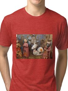 Christmas nativity scene  Tri-blend T-Shirt