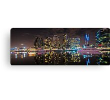 Melbourne's Docklands Harbour by Night Canvas Print