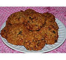 Delicious Granola Oatmeal Cookies Photographic Print