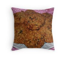 Delicious Granola Oatmeal Cookies Throw Pillow