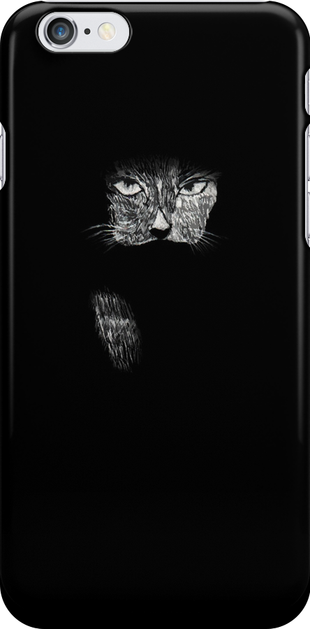 Cat in scratchboard by AHakir