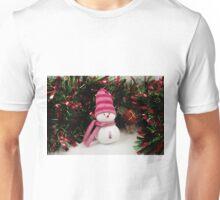 A handmade snowman in tinsel Unisex T-Shirt