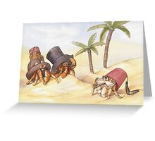Victorian Hermit Crabs Greeting Card