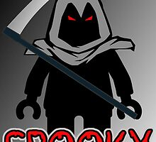 Spooky Grim Reaper Minifig by 'Customize My Minifig' by ChilleeW