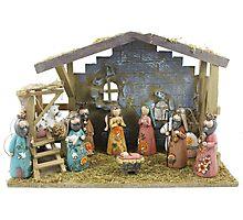 Christmas nativity scene  Photographic Print