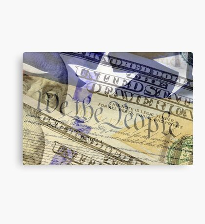 Double exposure finance and government concept Canvas Print