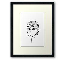 Tattoos girl Framed Print