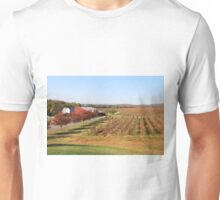 Vineyard fields in the fall Unisex T-Shirt