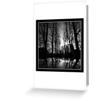 Black Silhouette Greeting Card