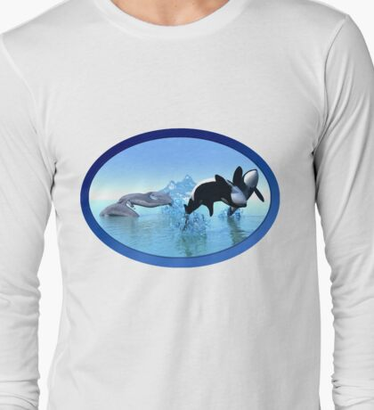 Dolphins and Orca's Long Sleeve T-Shirt