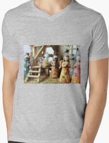 Christmas nativity scene  Mens V-Neck T-Shirt