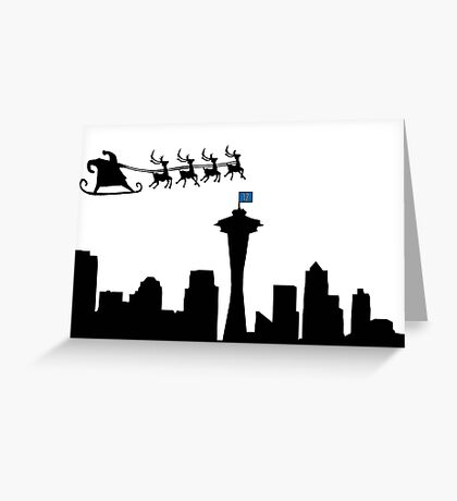 Merry Christmas Seattle Greeting Card