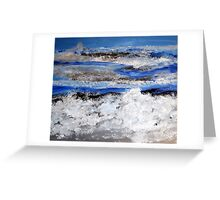 To paint the sea... Greeting Card