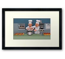 Too Many Cooks 3 - You're Doing It Wrong! Framed Print
