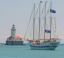 Chicago Harbor Lighthouse by Jack Ryan
