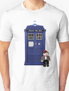 Eleven Cartoon with the TARDIS T-Shirt