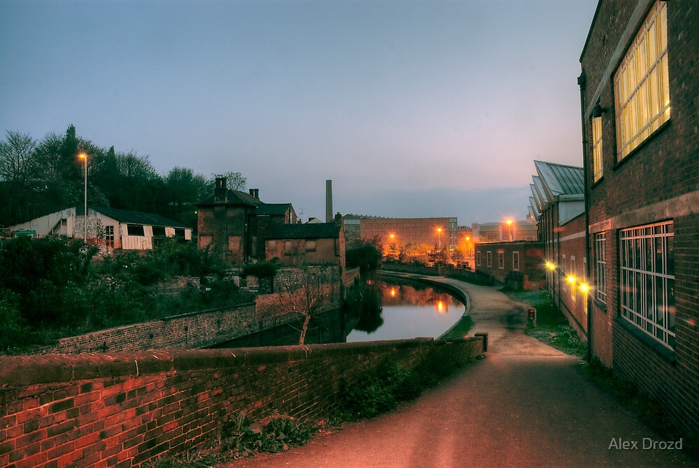 Canal and Tesco from Castle Street, Kidderminster by Alex Drozd