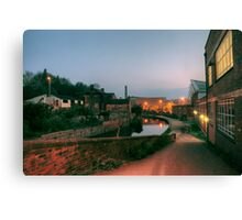 Canal and Tesco from Castle Street, Kidderminster Canvas Print