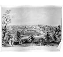 Panoramic Maps Waukesha Wisconson 002 Poster