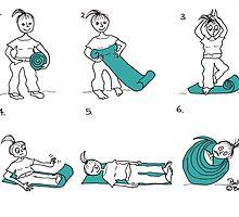 yoga mat by Pauline O'Brien