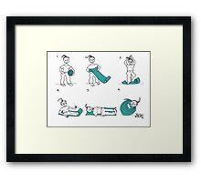 yoga mat Framed Print
