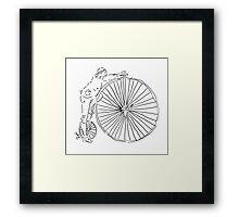 Transportation in 1885! Framed Print