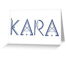 Kara Pandora Logo Greeting Card