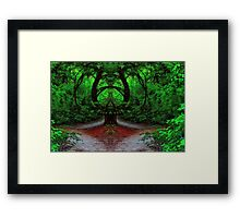 Magical Forest - Enter at Your Own Risk - Daily Homework - Day 54 - June 30, 2012 Framed Print