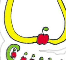 The Neckless of All Apples Sticker
