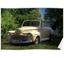 """1946 Ford Convertible """"Back to the Future"""" Poster"""