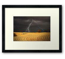 Summer Storm - Mine Road, Kanmantoo, South Australia Framed Print