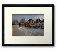 Lime Kiln Bridge in snow Framed Print