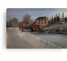 Lime Kiln Bridge in snow Canvas Print