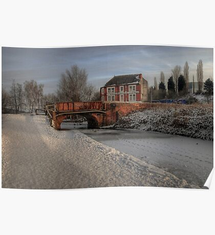 Lime Kiln Bridge in snow Poster