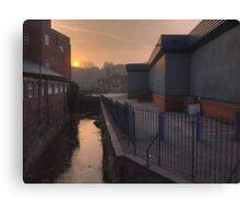New Road, Kidderminster, sunrise Canvas Print