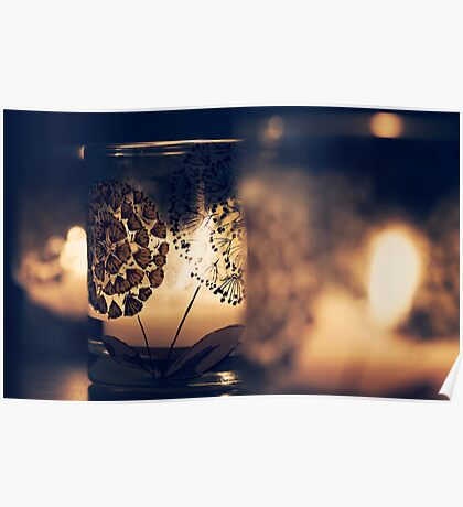Glass candles Poster