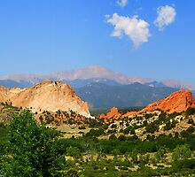 Pike's Peak from The Garden of the Gods by BarbL