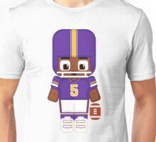American Football Purple Unisex T-Shirt