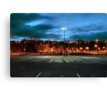 Aldi car park, Kidderminster Canvas Print